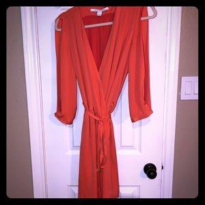 DVF Autumn wrap dress 6